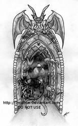 Doorway of Doom tattoo design by Imkihca