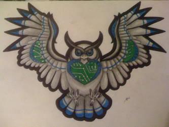 Bobo the Cyber Owl by Imkihca