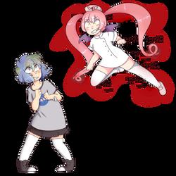 Earth-chan Vs Ebola-chan by ErinIsAnxious