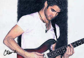 Darren Criss Live - drawing by Live4ArtInLA