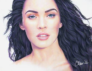 Megan Fox - Drawing by Live4ArtInLA