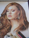 Adele - photo of drawing by Live4ArtInLA