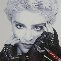 Madonna in Ballpoint Drawing by Live4ArtInLA