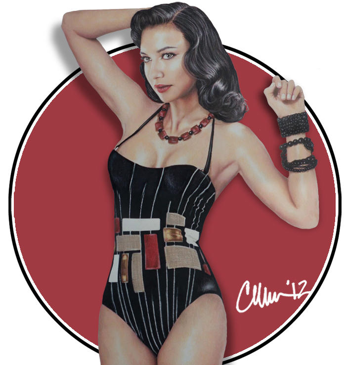 Modern Day Pin Up Girl Naya Rivera By Live4artinla On Deviantart