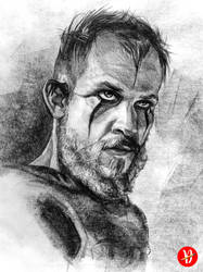 Floki from the series Vikings Portrait Drawing by dwtaldrian