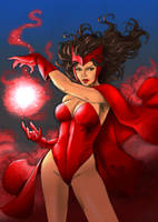 Scarlet Witch by Fredbenes (COLORS) by carol-colors