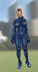 Kinetic Suit and The Girl by Selkirk (COLORS) by carol-colors