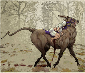Dwarf and Stag by Selkirk (COLORS) by carol-colors