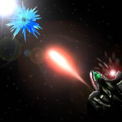 Space combat by KanaDragonheart