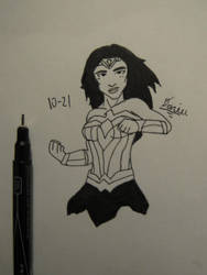 Inktober Day 21 Wonder Woman by Danielfs5