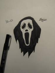 Inktober Day 22 Ghostface by Danielfs5