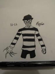 Inktober Day 26 Freddy Krueger by Danielfs5