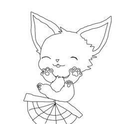 baby foxfan YCH by Shantayz-Shan