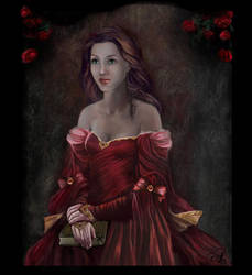 Noble Lady in Red by Aqvila