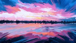 Sky Mirror by Aenami