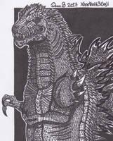 Godzilla (own design) by XenoTeeth3