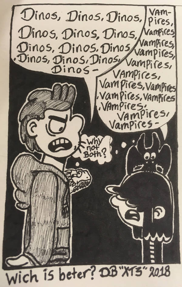 Dinos or Vampires? by XenoTeeth3