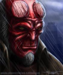 Hellboy my fan art by AtomiccircuS