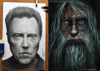 traditional vs photoshop by AtomiccircuS