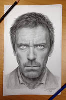 Dr.House pencil drawing by AtomiccircuS