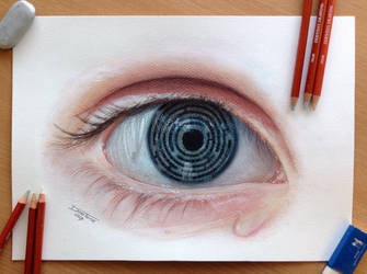 Eye Maze Color pencil drawing by AtomiccircuS