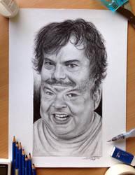 Tenacious D Pencil Portrait by AtomiccircuS