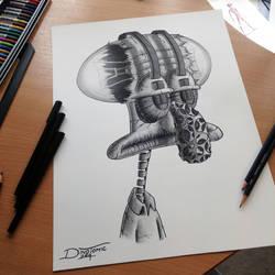 Tadeus Pencil Drawing by AtomiccircuS