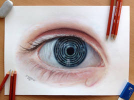 Eye Maze pencil drawing by AtomiccircuS