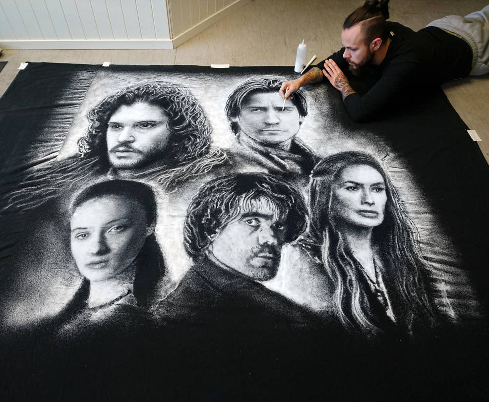 Salt Portraits from Game of Thrones by AtomiccircuS