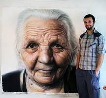 Large Color pencil portrait by AtomiccircuS