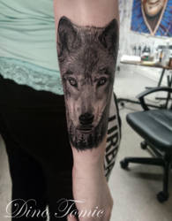 Wolf Tattoo from today by AtomiccircuS
