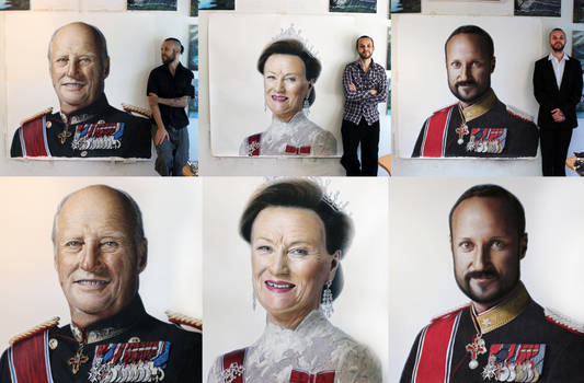 Royal Color Pencil Portraits by AtomiccircuS