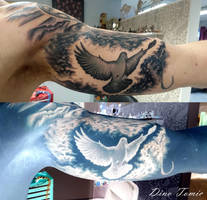 Inverted Dove Tattoo by AtomiccircuS