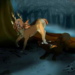 Commission - Deer (part 2) by HelgaButtercup