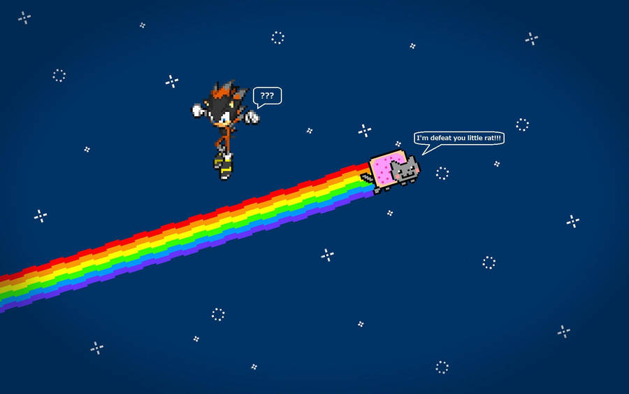 Nyan Cat Vs Mongster Wallpaper Xd By Darkmongster On Deviantart