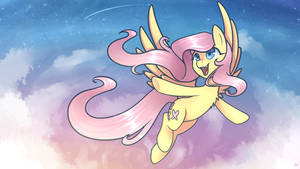 Fluttershy (Wallpaper Ver.) 1920x1080px by taesuga