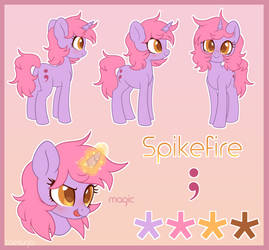 Spikefire Ref Sheet by taesuga