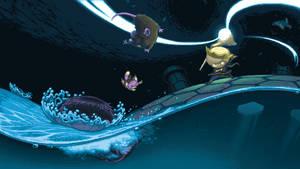 Auro:PC Version Title Screen by PickleStork
