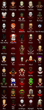 Horror Characters by rkw0021