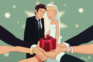 Regalo de boda cada vez mas caro by Bonadesign