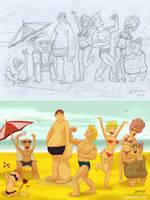 En la playa, todos vivimos como en Gran Hermano by Bonadesign