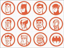 Iconos Super Heroes by Bonadesign