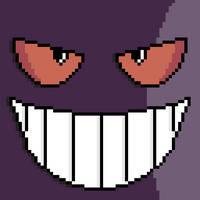 Pixel Gengar Face by Gindew