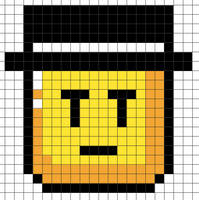 Perler Bead Design: SMW Gentleman Flip Block by Gindew