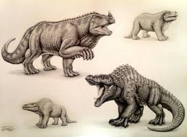 Super Retro (Iguanodon, Megalosaurus) by Israel-C