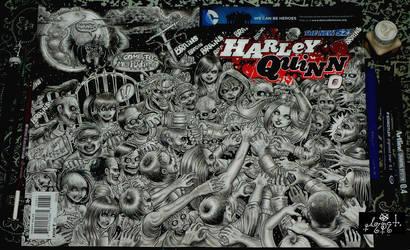 HARLEY QUINN BLANK COVER by vampire-stars