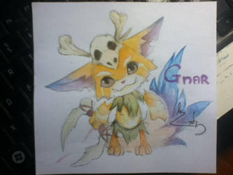 Gnar LoL Champion by meodendudon
