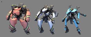 Toy robots by GrayShuko