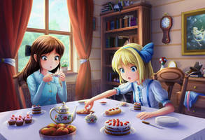Alices' tea party [1] by Solmyr2000