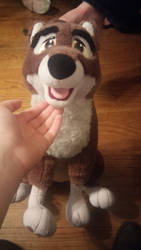 My new balto plush i got just now by Baltolover21